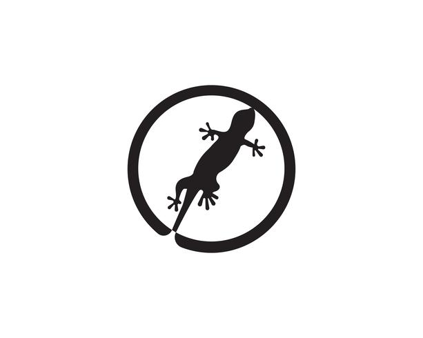 Lizard Chameleon Gecko Silhouette svart vektor svart