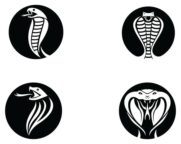 Viper Snake Logo Gestaltungselement. Gefahr Schlange Symbol. Viper-Symbol vektor