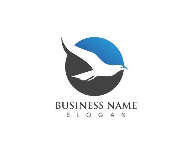 Eagle Bird Logo Mall vektor ikoner