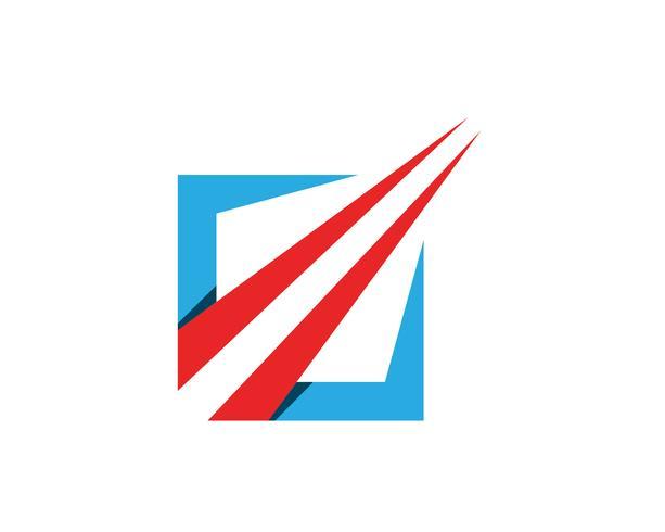 Företagsfinansieringslogo och symboler appmall vektor