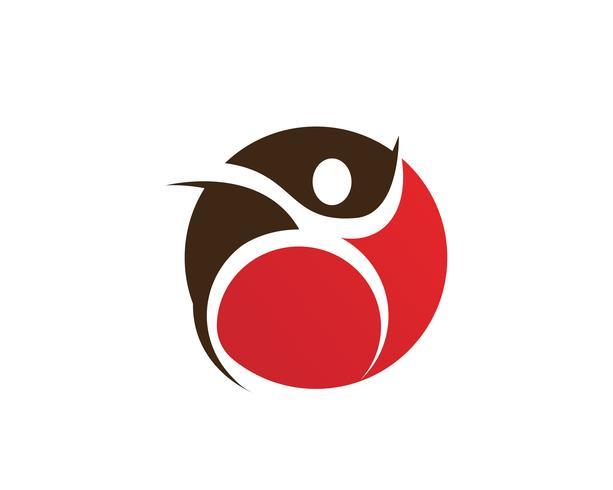 människor Leader ship framgång logotyp och symboler vektor