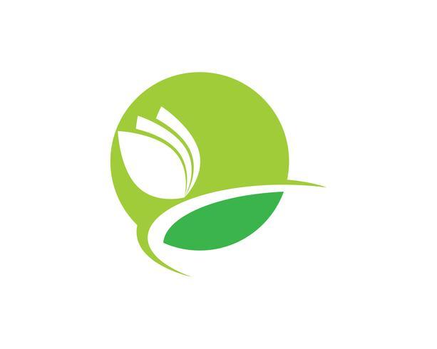 Jordbruksföretag logotyp mall unik grön vektor bild
