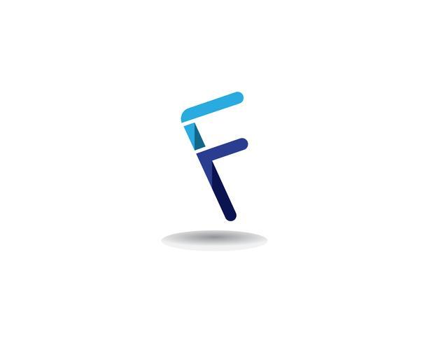 F logotyp affärssymboler vektor mall brev