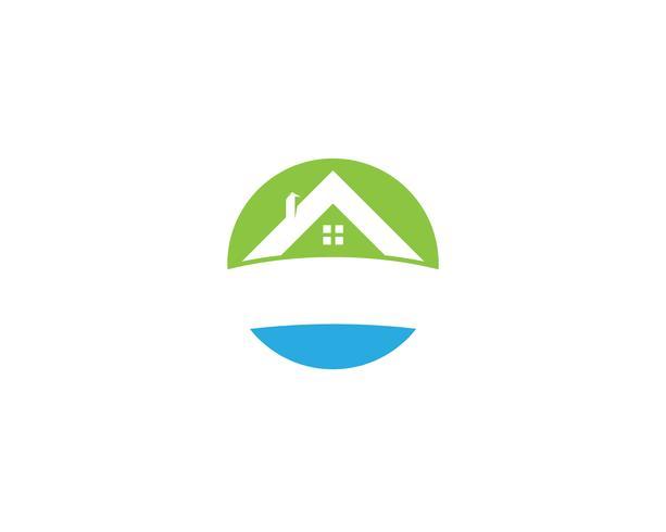 gröna husets logotypvektorer vektor