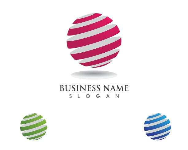 Global teknologi logotyp kommunikation vektor