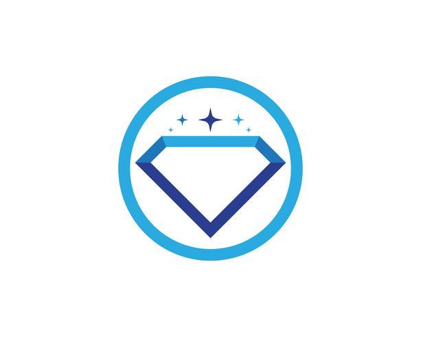 Diamond Logo Mall vektor ikon illustration design