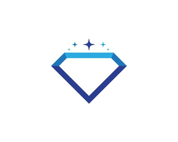 Diamond Logo Mall vektor ikon illustration design