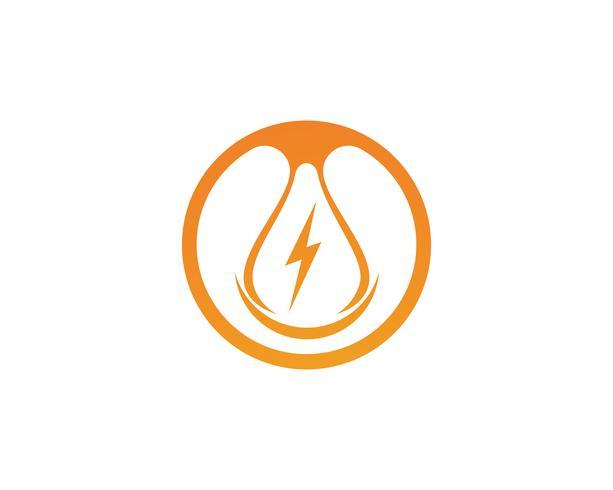 Lampa blixt ikoner vektor logotyp