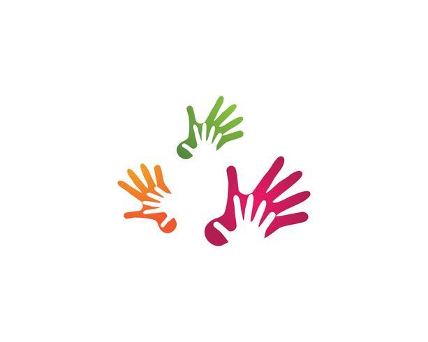 Handhilfe Logo Symbole Vorlage Symbole vektor