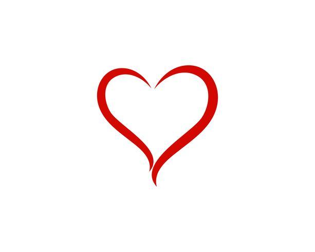 LOve hjärta logotyp och symbol vektor