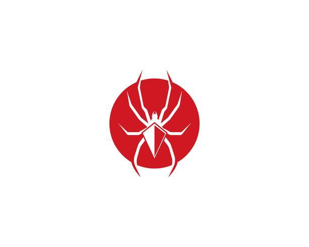 Spindel logo vektor illustrationer