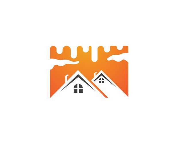 malen Logo Geschäft nach Hause vektor