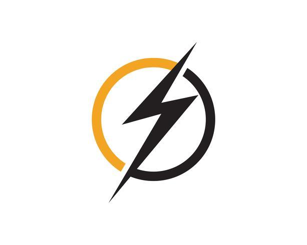 flash thunder bolt logo vektor
