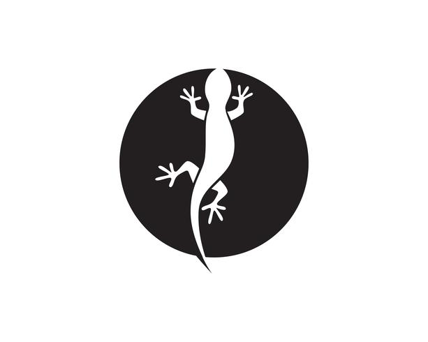 Lizard Chameleon Gecko Silhouette svart vektor