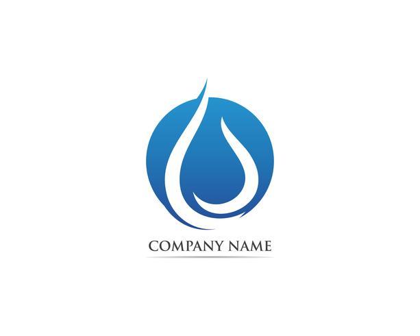 Waterdrop logo vektor illustrationer