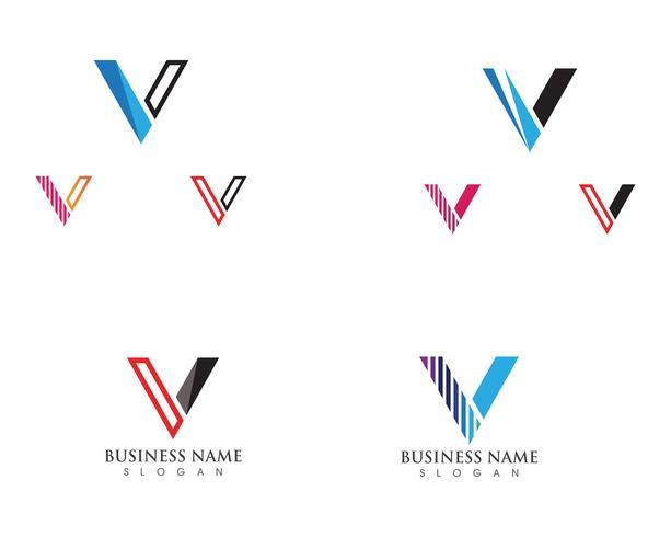 V-logotyp och symbolvektormallikon vektor