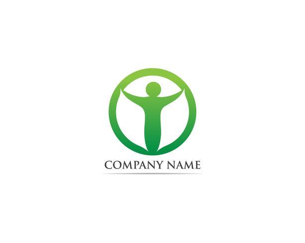 Framgång människor logotyp vektor mall