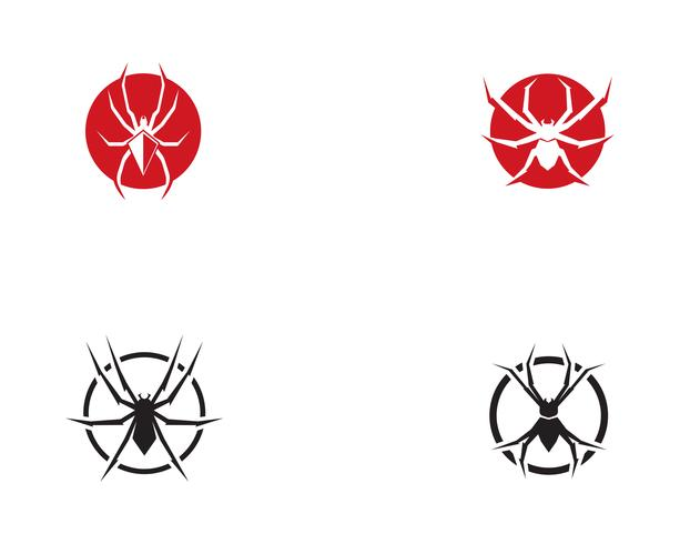 Spinnenlogo-Vektorillustrationen vektor