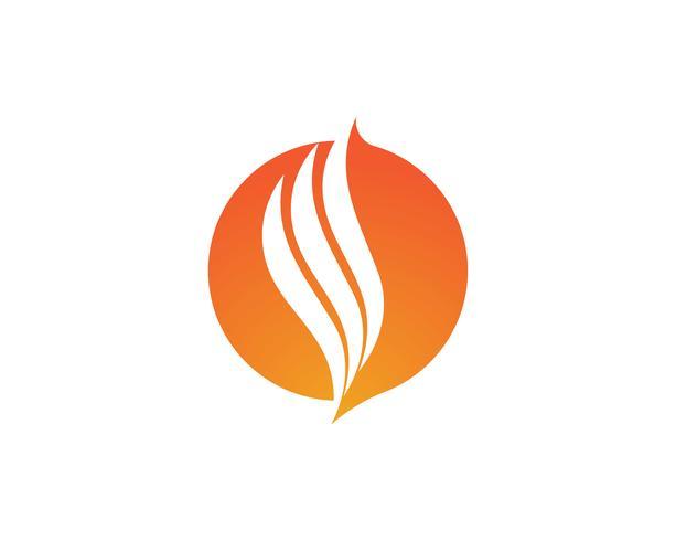 Brandflamma logotypmall vektor