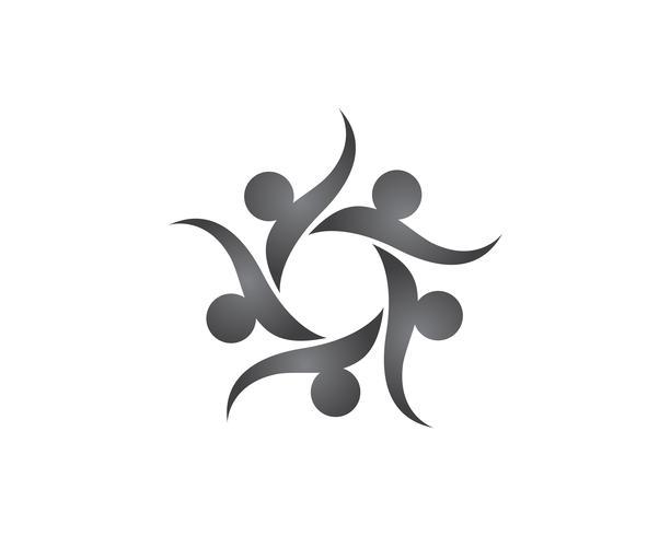 Star community folk grupp logotyp och symboler vektor