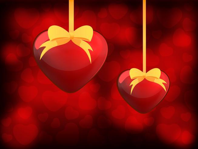 Två hjärtan - Alla hjärtans dag vektor