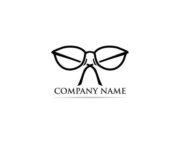 Glasögon Logo Design vektor