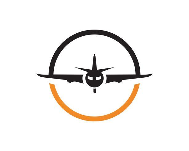 Flugzeugfliegenlogo und Symbolvektorschablone vektor