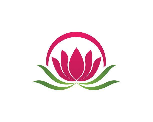 Skönhet Vektor Lotus blommor design logo Mall ikon - Vector