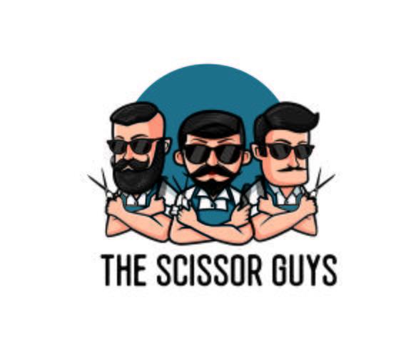 Friseur Charakter Logo Maskottchen Designs vektor