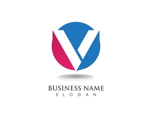 V Logo Business Brief Symbole vektor