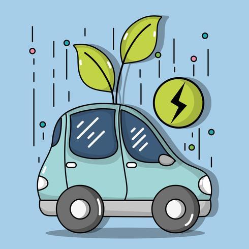 energi elbil till ekologi vård vektor