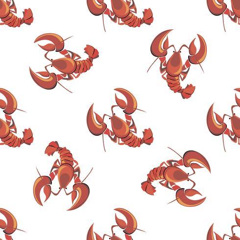 Nahtloses Muster. Hummer. Krebs. Meeresfrüchte. Design. Vektor-illustration vektor