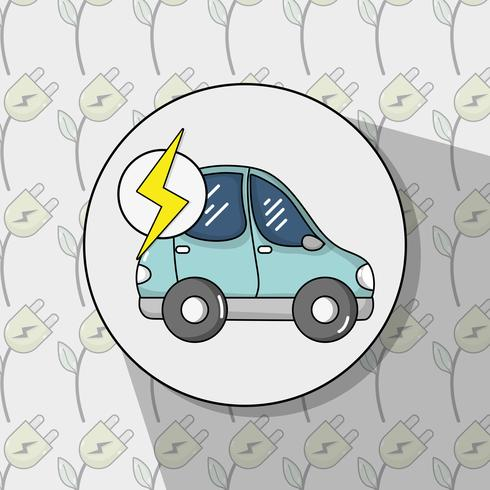 energi elektrisk bilteknik till miljöskydd vektor
