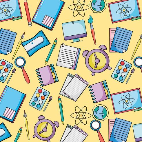 Schule Uetensils Bildung Hintergrunddesign vektor