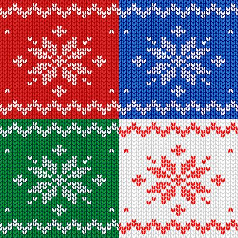 Nahtloses Muster. Gestrick. Ornament Schneeflocke. Wolle. Winterdekor. Rot. Vektor. vektor