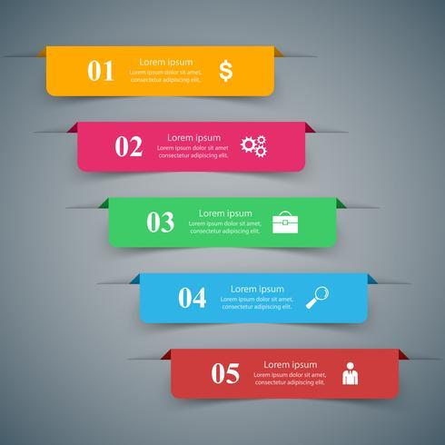 Geschäft Infographics-Origamiart Vektorillustration. vektor