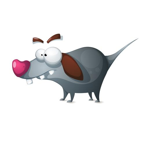 Verrückter Hund - lustige Zeichentrickfilm-Figuren. vektor