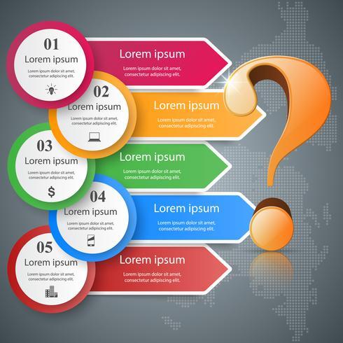 Geschäftliche Infografiken. Fragezeichen. vektor