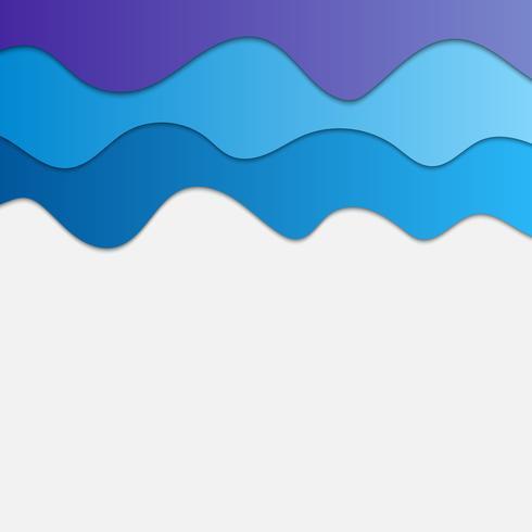 Blå vågor abstrakt bakgrund för design, moln koncept vektor