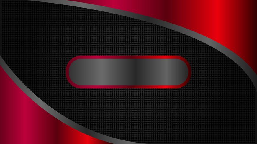 Minimale Art, abstraktes schwarzes und rotes Technologiefahnendesign vektor