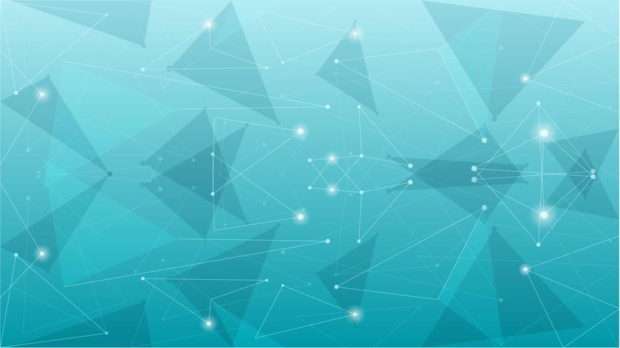 Abstrakt geometrisk blå polygonal bakgrund vektor