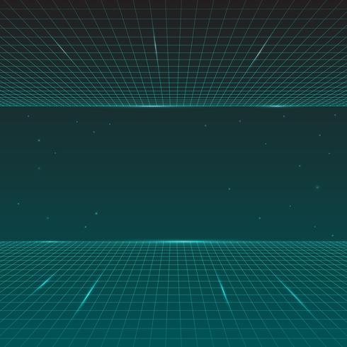 Retro- Welle des futuristischen Synth, Art 80s, zukünftige Retro- Linie Hintergrund vektor