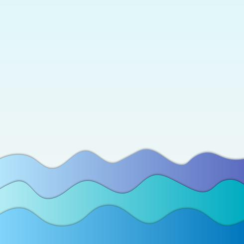 Marinblå vågor abstrakt bakgrund för design vektor