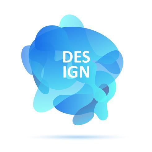 Dynamiska former, blåa färger, abstrakt modernt grafiskt element, blåa färger vektor