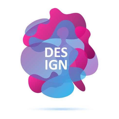 Blå och rosa färger, abstrakt modernt grafiskt element vektor