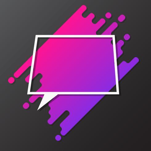 Element für Design dynamische abgerundete Form mit Papier geschnittenen Sprechblase vektor