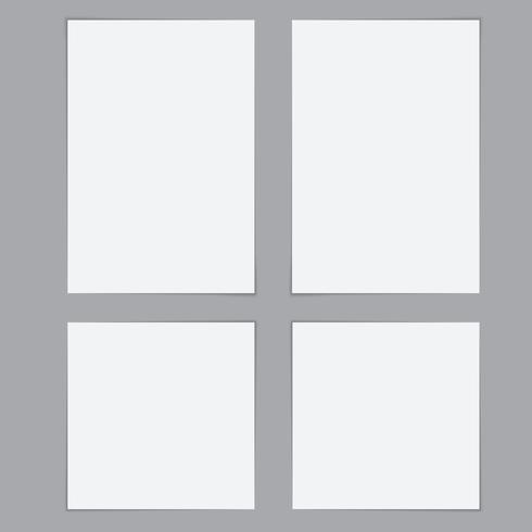 Mallar Pappersark med skuggor vektor