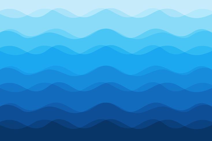 Abstrakt blå vågor bakgrund för design vektor