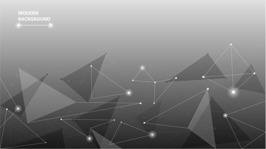 Abstrakt geometrisk futuristisk polygonal bakgrund vektor