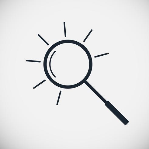 Förstoringsglas vektor linje ikon
